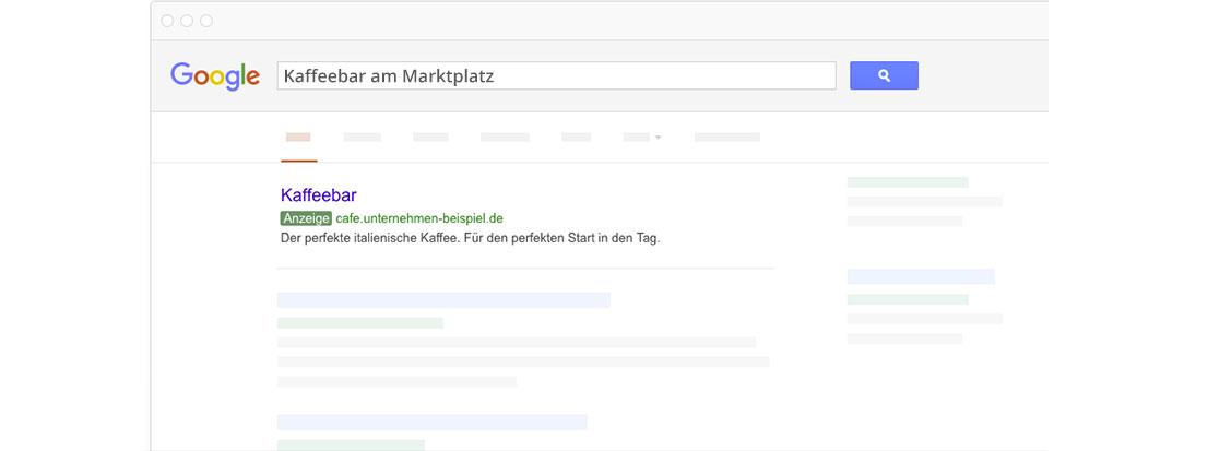 Erweiterte und für die mobile Ansicht optimierte Textanzeigen bei Google AdWords.