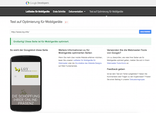 Testen Sie direkt ob Ihre Website Mobile Friendly ist
